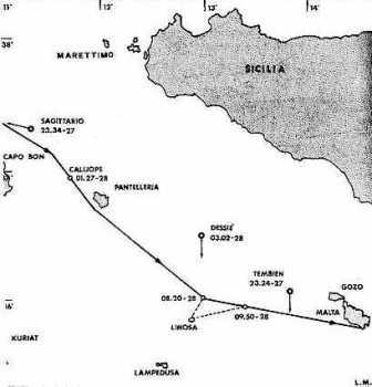 Actions of the Italian torpedo boats and submarines.</br>